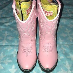 Pink girl cowboy boots